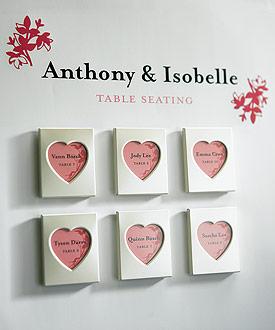 Mini Magnet Back Aluminum Heart Photo Frames ( Set of 3 )-Mini Heart Photo Frames, cheap wedding favors, wedding table seating display ideas
