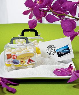 Miniature Travel Suitcase Container-Miniature Travel Suitcase Container destination wedding favor