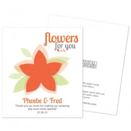 Modern Flower Plantable Seed Paper Favor-Modern Flower Plantable Seed Paper Favor