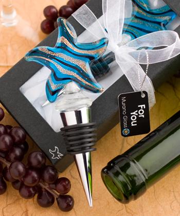 Murano Glass Collection starfish design wine bottle stoppers-Murano Glass Collection starfish design wine bottle stoppers