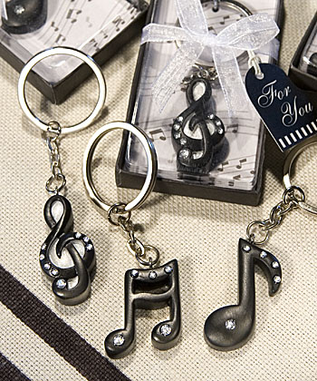 Musical Note Key Chain Favors-Musical Note Key Chain Favors