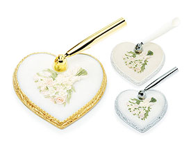Pastel Bridal Bouquet Heart Base Pen Set-