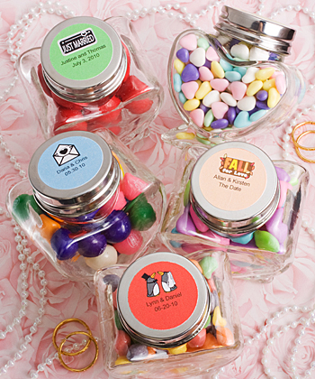 Personalized Expressions Collection heart shaped glass jars-Personalized Expressions Collection heart shaped glass jars