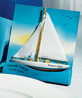 Smooth Sailing Sailboat Magnet Gift Favor (Set of 6)-Smooth Sailing Sailboat Magnet Gift Favor