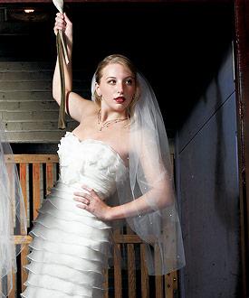 Scattered Pearl Border Cut Edge Veil-Scattered Pearl Border wedding Veil