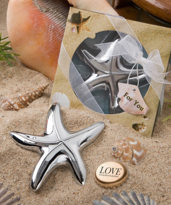 Starfish design bottle opener favors-Starfish design bottle opener beach wedding favors