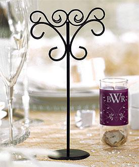 Tall Ornamental Wire Wedding Stationery Holders in Matte Black-Wedding Stationery Holders in Matte Black