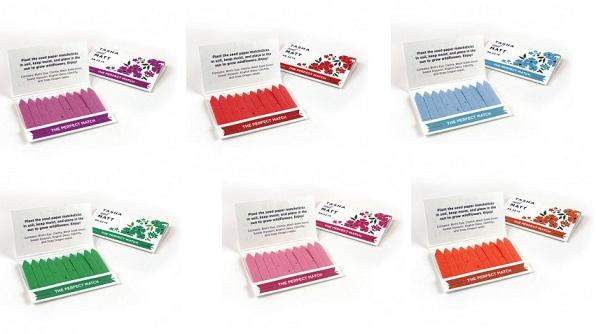 Wildflower Seed Paper Matchbook Favor-Wildflower Matchstick Garden Favor