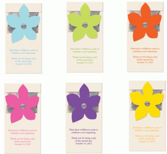 Wildflower Seed Packet Favor-Wildflower Seed Packet Favor