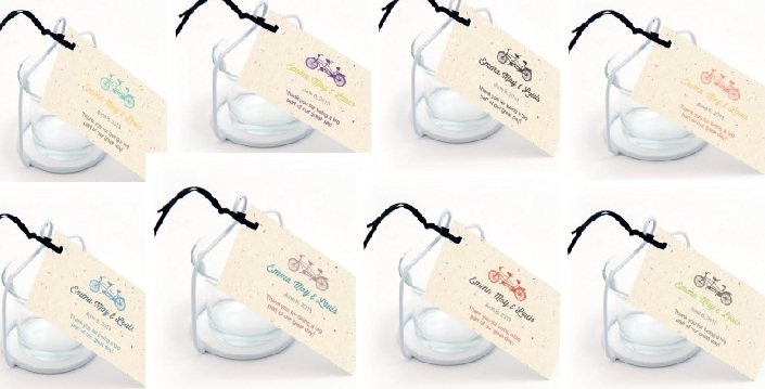 Plantable Tandem Bicycle Favor Tag-Plantable Tandem Bicycle Favor Tag