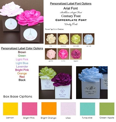 Basic Flower Top Favor Box-Basic Flower Top Favor Box,Bright Bases Flower Top Favor Box