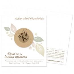 Crafter Memorial Cards-Crafter Memorial Cards