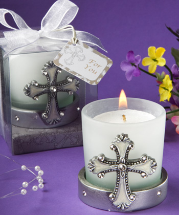 Regal Favor Collection cross themed candle holders-Regal Favor Collection cross themed candle holders,Favors For Communions, Favors For Christenings, Favors For Baptisms, Baptism & Christening Favors, promo items, giveaway ideas, Sunday school gifts, church marketing