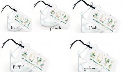 Floral Letters Plantable Favor Tag-Floral Letters Plantable Favor Tag