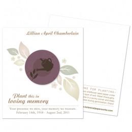 Gardener Memorial Cards-Gardener Memorial Cards