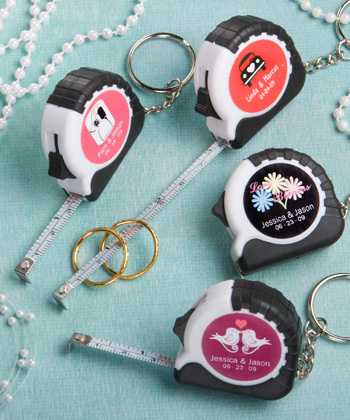 Personalized Expressions Collection key chain - measuring tape favors-Personalized measuring tape favors