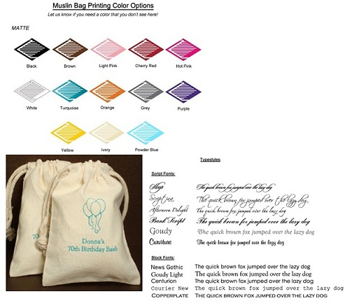 Bridal Shower Personalized Muslin Bag Favors-Bridal Shower Personalized Muslin Bag Favors