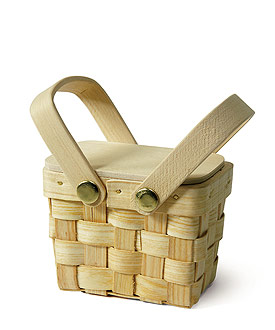 Miniature Woven Picnic Basket - Set of 6-picnic wedding, mini baskets, baskets, woven basket