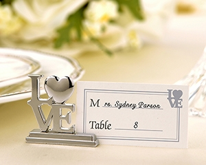 """LOVE"" Place Card Holder/Photo Holder with Matching Place Cards (Set of 4)-LOVE Place Card Holder,placecards, reception card, place card holders, card place holders, wedding table names, placecard holders, wedding table numbers, place card holder, wedding table number ideas, wedding table cards"