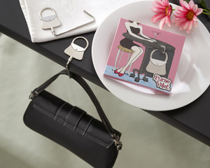 Purse Valet Stainless-Steel Handbag Holder-