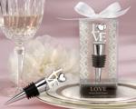"""""""LOVE"""" Chrome Bottle Stopper-love themed wedding favors"""
