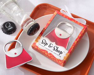 Sip & Shop Purse Bottle Opener-Bottle Opener Favors
