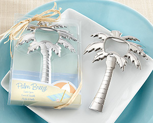 """Palm Breeze"" Chrome Palm Tree Bottle Opener-Palm Breeze Chrome Palm Tree Bottle Opener"