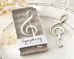 """Symphony"" Chrome Music Note Bottle Opener-Symphony Chrome Music Note Bottle Opener"