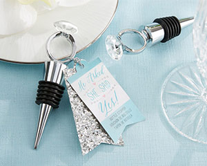 """HE ASKED, SHE SAID YES"" ENGAGEMENT RING BOTTLE STOPPER-HE ASKED, SHE SAID YES ENGAGEMENT RING BOTTLE STOPPER"