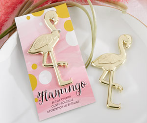 """FANCY AND FEATHERED"" FLAMINGO BOTTLE OPENER""FANCY AND FEATHERED"" FLAMINGO BOTTLE OPENER-FANCY AND FEATHERED FLAMINGO BOTTLE OPENER"