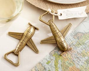 """LET THE ADVENTURE BEGIN"" AIRPLANE BOTTLE OPENER-LET THE ADVENTURE BEGIN AIRPLANE BOTTLE OPENER"