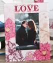Love Themed Glass Frame-Love Themed Glass Frame