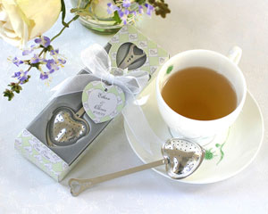 Tea Time Heart Tea Infuser in Tea-Time Gift Box-tea themed bridal shower favors