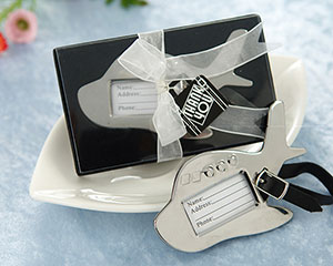 Airplane Luggage Tag in Gift Box with suitcase tag-