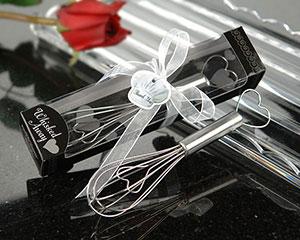 """""""Whisked Away"""" Heart Whisk-whisk favor, kate aspen favor, stainless steel, heart motif, gift box, ribbon box, elegant wedding favor"""