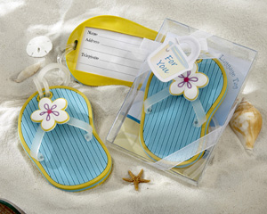 Flip-Flop Luggage Tag in Beach-Themed Gift Box-