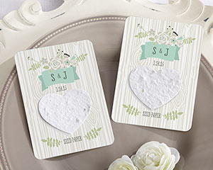 """LOVE GROWS"" PERSONALIZED HEART SEED PAPER CARDS (SET OF 12)-LOVE GROWS PERSONALIZED HEART SEED PAPER CARDS (SET OF 12)"