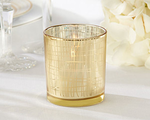 Classic Gold Stripe Tealight Holder (Set of 4) Classic Gold Stripe Tealight Holder (Set of 4) Classic Gold Stripe Tealight Holder (Set of 4)-Classic Gold Stripe Tealight Holder (Set of 4)