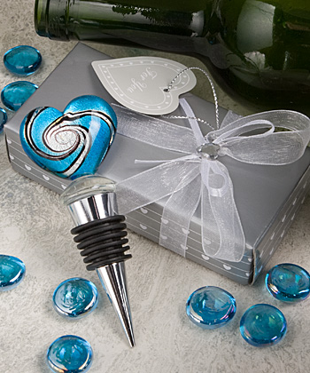 Stunning Murano heart design wine bottle stoppers-Stunning Murano heart design wine bottle stoppers