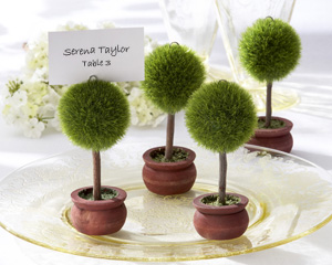 """Topiary Photo Holder/Place Card Holder (Set of 4) """"As Seen in Modern Bride Aug/Sept 2008""""-placecards, reception card, place card holders, card place holders, wedding table names, placecard holders, wedding table numbers, place card holder, wedding table number ideas, wedding table cards"""