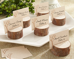 Rustic Real-Wood Place Card/Photo Holder (Set of 4)-Rustic Real-Wood Place Card/Photo Holder (Set of 4)