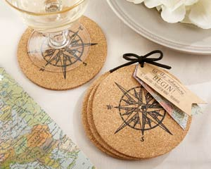 """LET THE JOURNEY BEGIN"" CORK COASTERS-LET THE JOURNEY BEGIN CORK COASTERS"
