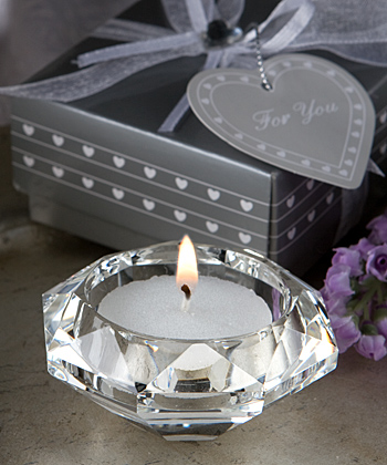 Choice Crystal Collection Diamond Candle Holder Favors-Choice Crystal Collection Diamond Candle Holder Favors