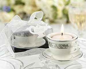 Teacups and Tealights Miniature Porcelain Tealight Holders-
