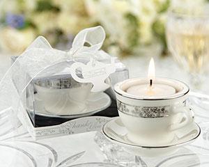 Teacups and Tealights Miniature Porcelain Tealight Holders-