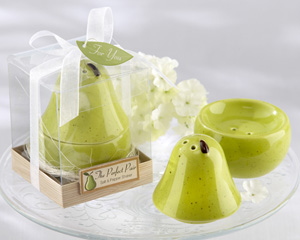 The Perfect Pair Ceramic Salt Pepper Shaker-salt pepper shaker favors