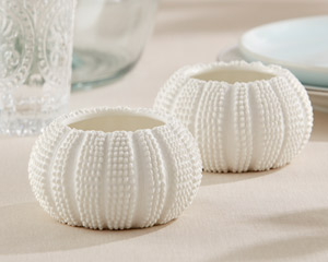 """SEA TIDINGS"" SEA URCHIN TEALIGHT HOLDERS (SET OF 2)-SEA TIDINGS SEA URCHIN TEALIGHT HOLDERS (SET OF 2)"