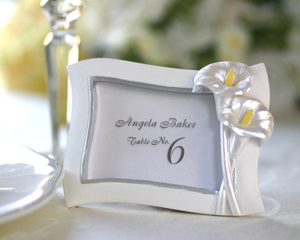 Swaying Calla Lily Pearlescent Place Card/ Photo Frame-placecards, reception card, place card holders, card place holders, wedding table names, placecard holders, wedding table numbers, place card holder, wedding table number ideas, wedding table cards