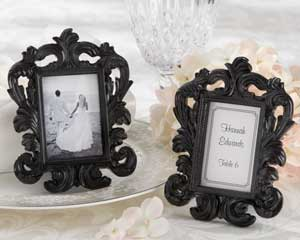 Black Baroque Elegant Place Card Holder Photo Frame-black and white wedding favors, elegant wedding place card holders, kate aspen wedding photo frames,placecards, reception card, place card holders, card place holders, wedding table names, placecard holders, wedding table numbers, place card holder, wedding table number ideas, wedding table cards