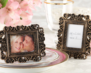 Ornate Antique Gold Place Card Holder/Photo Frame-Ornate Antique Gold Place Card Holder/Photo Frame